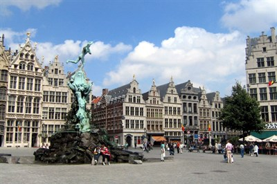Relax with a drink In Antwerps Old Town