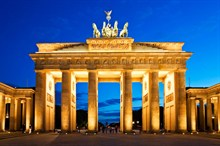 The Distinctive Brandenburg Gate And Berlin Wall