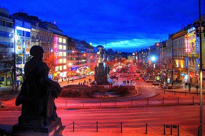 Wenceslas Square In The Heart Of Pragues New Town