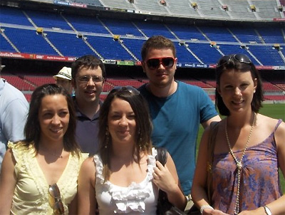 Members Of Our Team At The Nou Camp