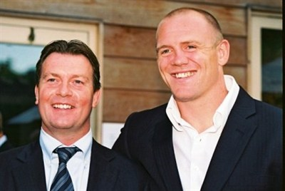 Mike Tindall With Burleihg Travel Director Chris Kite