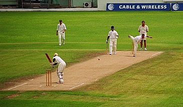 Kew CC Bowling at Kensington Oval Barbados