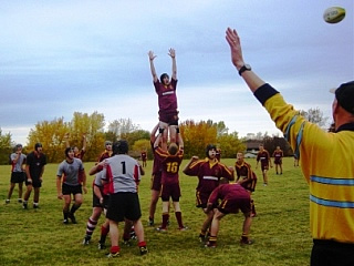 The George Ward School Lineout Canada