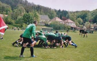 Bristol Barbarians Rugby Hungary Scrum