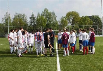 Porthcawl fc playing football in amsterdam