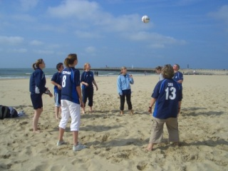 Wycombe Wanderers Ladies FC on the Beach in Amsterdam
