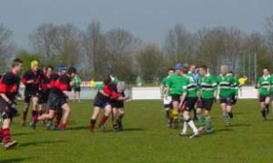 Maidenhead RFC U15 playing in Holland
