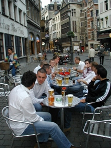 Swindon Village FC Socialising in Antwerp
