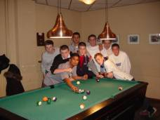 Berkshire Agricultural College FC playing pool in Holland