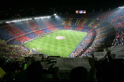 Watch Barcelona FC Play At The Impressive Nou Camp Stadium