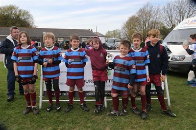 Runner Up In The U9 Competition At The Bognor Mini Rugby Festival 2014 - Hove RFC Horns