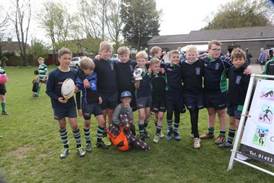 Runner Up In The U10 Competition At The Bognor Mini Rugby Festival 2014 - Reading Abbey RFC