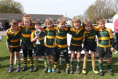 Winner Of The U7 Competition At The Bognor Mini Rugby Festival 2014 - Shoreham RFC