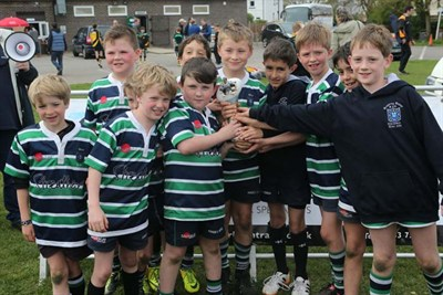 Winner Of The U9 Competition At The Bognor Mini Rugby Festival 2014 - Reading Abbey RFC