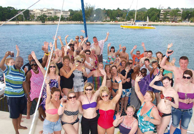 A breathtaknig catamaran cruise along the Barbados coastline