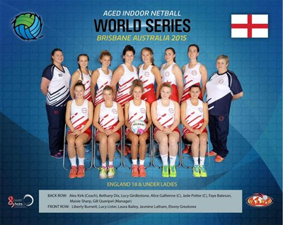 England Indoor Netball 18 Under Ladies Netball Tour To Asutralia 2015