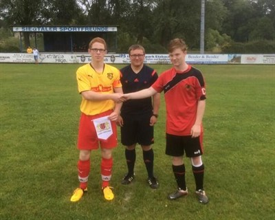 Mickleover Sports FC U16 Football Tour To Cologne Flag Swap
