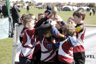 Cranbrook Junior Rugby Team At The Bognor Rugby Festival