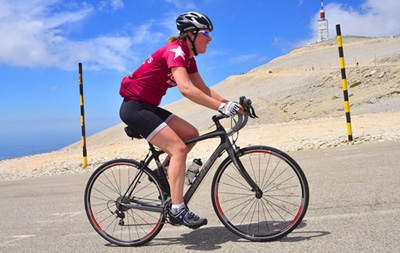 Carolyn Cycling in France