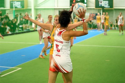 England U21 Indoor Netball Team In New Zealand