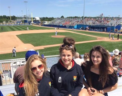 Ysgol Y Strade School Netball Tour To Canada Watching Baseball