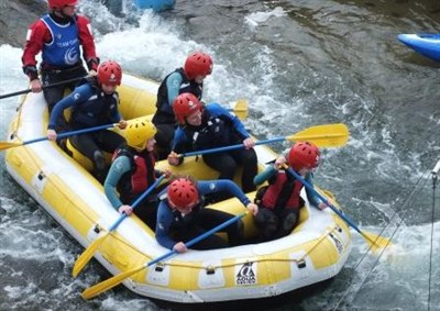 White Water Rafting During A School Sports Tour