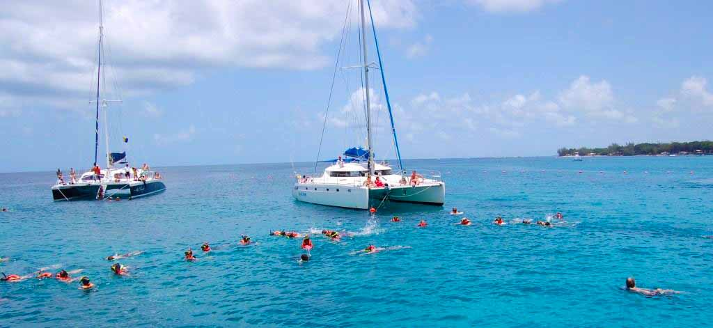 Catamaran And Swimming In Barbados On Your Sports Tour
