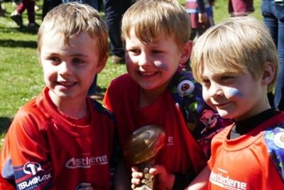 Aylesford Bulls U7s With Their Spirit Of Rugby Trophy At The Bournemouth Mini And Junior Rugby Festival 2017