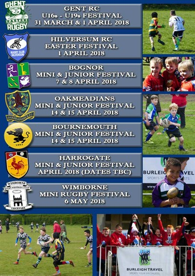 Mini And Junior Rugby Festival Dates 2018