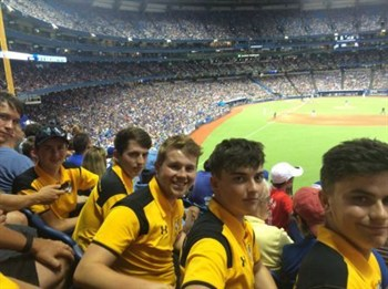 School Rugby Tour To Canada Watching The Baseball