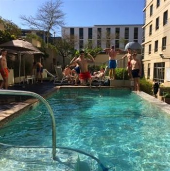 Castle School Rugby Tour Hotel Pool