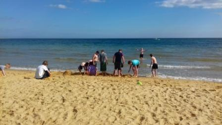 Pershore RFC U13s Enjoying The Beach At The Bournemouth Rugby Festival