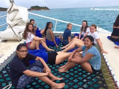 The Abbey School Netball Tour To Antigua Catamaran Cruise