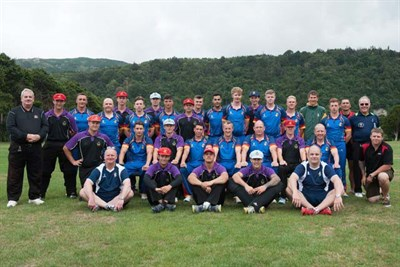 REME Cricket To NZ Team Photo With Veiw