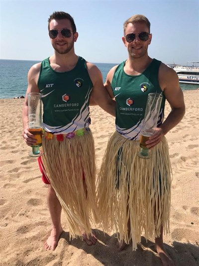 Lightwater RFC Fancy Dress On The Beach