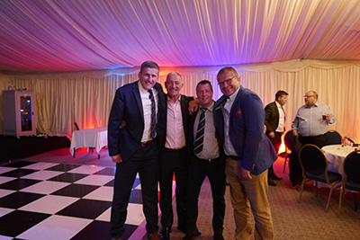 Rugby Heroes Charity Dinner Picture With Chris Kite John Benley Andy Decon And Simon Devereux 4