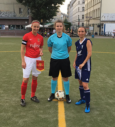 Army Reserve Womens FC Football Tour To Berlin Captains Photo