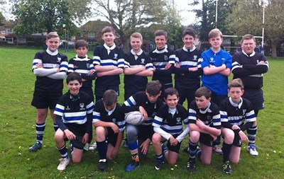 Chingford RFC U13s Rugby Tour To The Abergavenny Rugby Festival 2014 Match Photo
