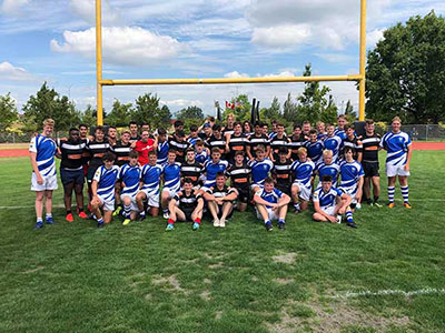 Ysgol Greenhill School Rugby Tour To Canada First Fixture Team Photo