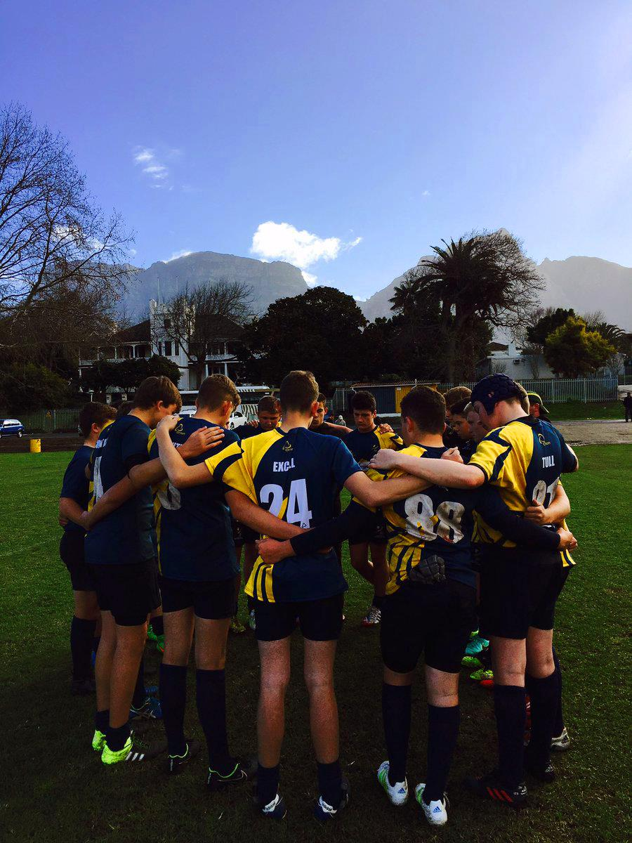 Castle School Rugby Team While On Tour To South Africa