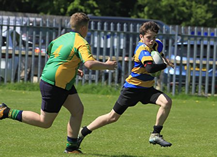 Play rugby in a well organised festival